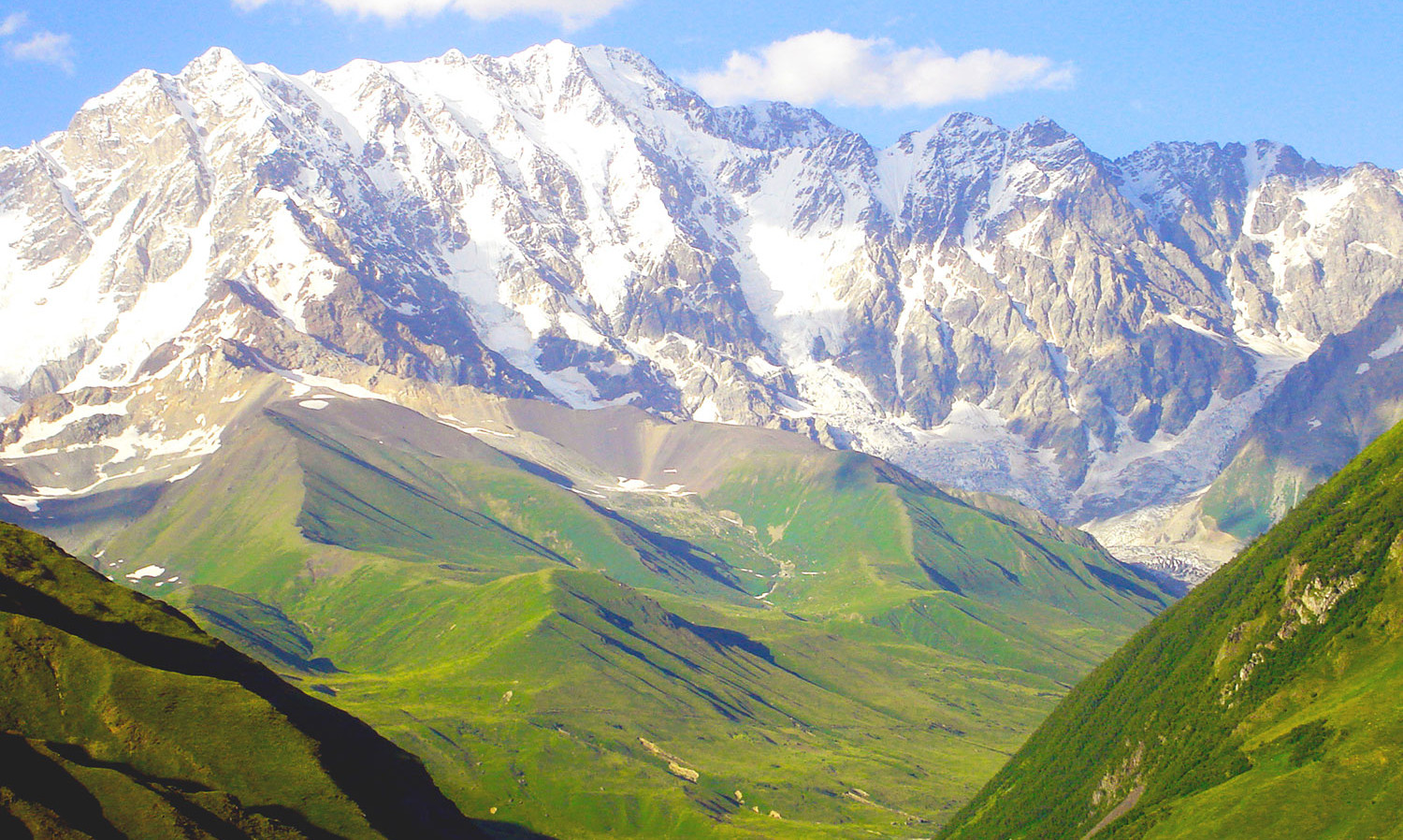 Greater Caucasus Mountains in Upper Svaneti